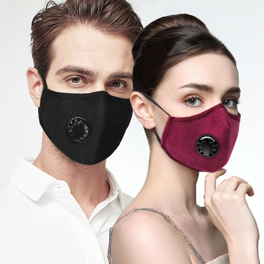 Reusable Face Masks With Respirator Valves (LARGE SIZE
